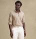 Beige Cotton and Linen Melange Knit Shirt Thumbnail 2