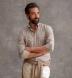 Cortina Camel and Light Grey Melange Plaid Flannel Shirt Thumbnail 3