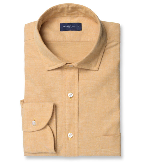 Portuguese Gold Brushed Chambray