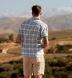 Albini Light Grey Ombre Plaid Linen Shirt Thumbnail 3