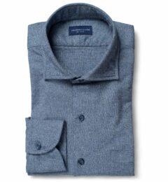 Canclini Light Slate Birdseye Beacon Flannel Fitted Dress Shirt
