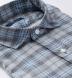 Satoyama Light Blue and Grey Plaid Flannel Shirt Thumbnail 2