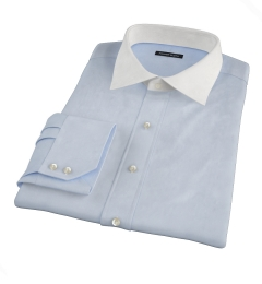 Jones Light Blue End-on-End Fitted Dress Shirt