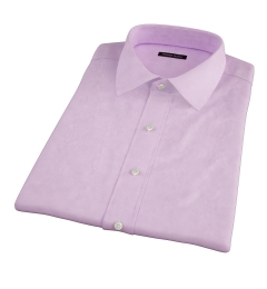Thomas Mason Lilac Mini Houndstooth Short Sleeve Shirt