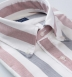 American Pima Navy and Red Melange Wide Stripe Oxford Shirt Thumbnail 2