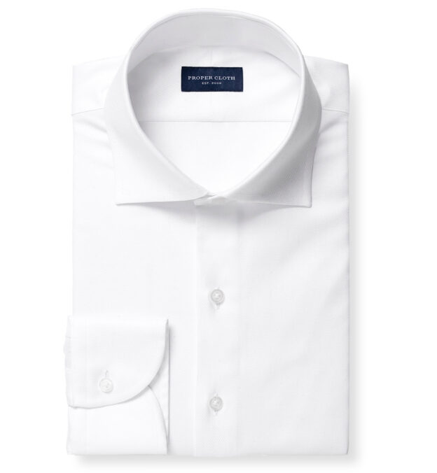 Sutton Wrinkle-Resistant White Imperial Twill Custom Dress Shirt