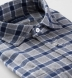 Navy and Grey Check Flannel Shirt Thumbnail 2