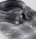 Grey Tonal Melange Ombre Plaid Double Cloth Shirt Thumbnail 2