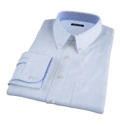 American Pima Light Blue Heavy Oxford Fitted Shirt