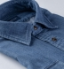 Albiate Washed Dark Indigo Heavy Denim Shirt Thumbnail 2