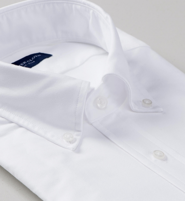 White Heavy Oxford Soft Ivy Button Down