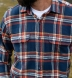 Japanese Washed Navy Gold and Faded Red Country Plaid Shirt Thumbnail 3