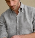 Tessuti di Sondrio Light Grey Prince of Wales Linen Shirt Thumbnail 4