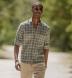 Mesa Fatigue and Brown Cotton Linen Vintage Plaid Shirt Thumbnail 2