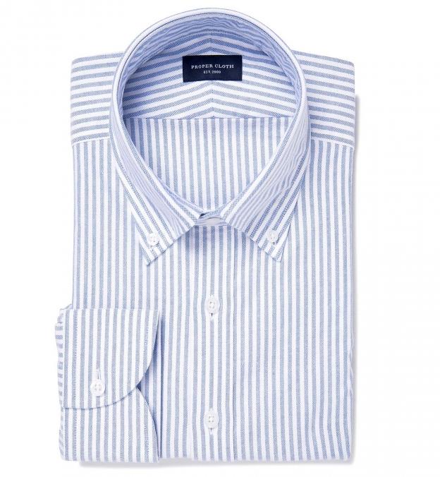 Blue University Stripe Heavy Oxford Popover