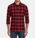 Scarlet and Black Ombre Plaid Flannel Western Shirt Shirt Thumbnail 3