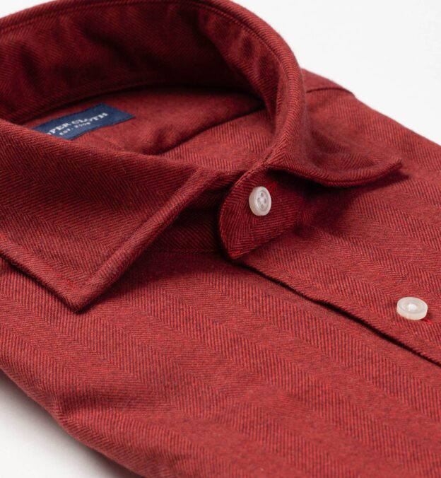 Canclini Red Herringbone Beacon Flannel