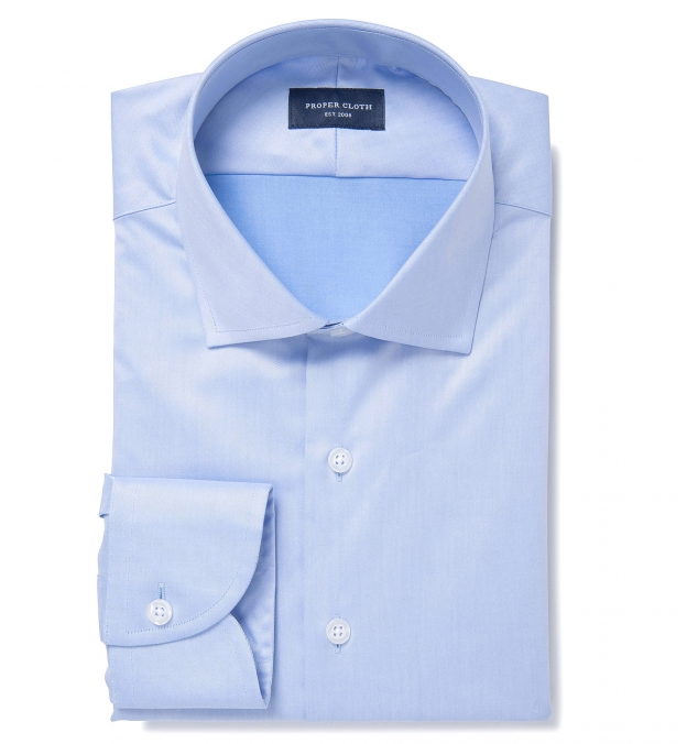 Hudson Wrinkle-Resistant Blue Twill Men's Dress Shirt