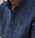Tessuti di Sondrio Navy Prince of Wales Check Linen Shirt Thumbnail 3