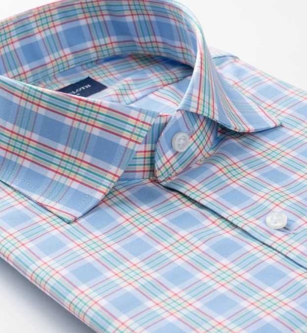 Sorrento Light Blue Yellow and Red Large Check