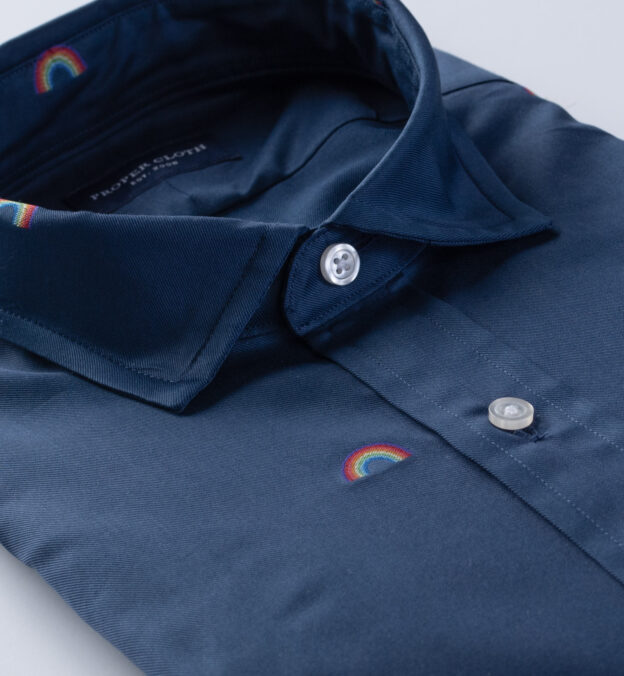 Albiate Navy Pride Embroidered Twill