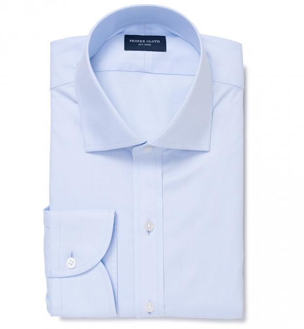 Thomas Mason Non-Iron Light Blue Twill Men's Dress Shirt