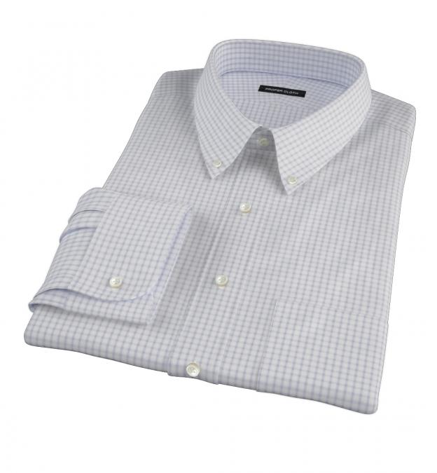 Canclini Grey Multi Grid Men's Dress Shirt