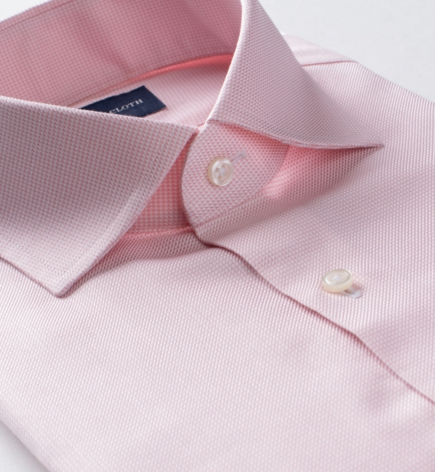 Non-Iron Light Pink Houndstooth Dobby