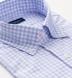 Thomas Mason Lavender and Light Blue Multi Gingham Shirt Thumbnail 2