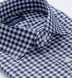 Performance Navy Blue Gingham Shirt Thumbnail 2