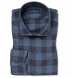 Albini Indigo and Grey Gingham Featherweight Flannel Shirt Thumbnail 1