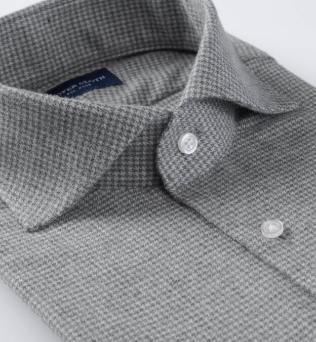 Canclini Light Grey Houndstooth Beacon Flannel