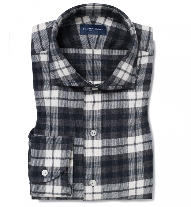 Canclini Charcoal Large Plaid Beacon Flannel