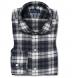 Canclini Charcoal Large Plaid Beacon Flannel Shirt Thumbnail 1