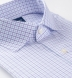 Non-Iron Stretch Lavender and Light Blue Check Shirt Thumbnail 2