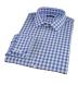 Royal Blue Large Gingham Shirt Thumbnail 1