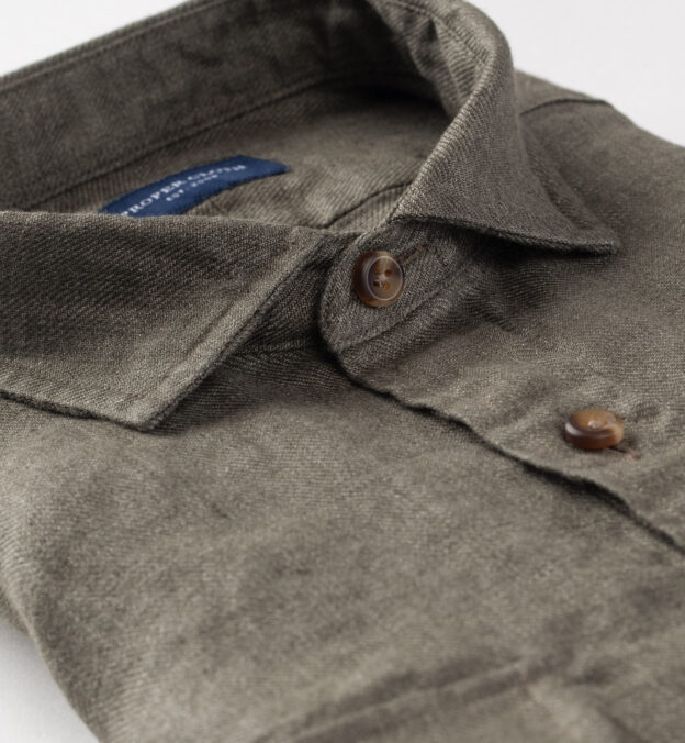 Albini Washed Fatigue Linen Slub Twill