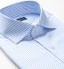Non-Iron Supima Light Blue Stripe Shirt Thumbnail 2