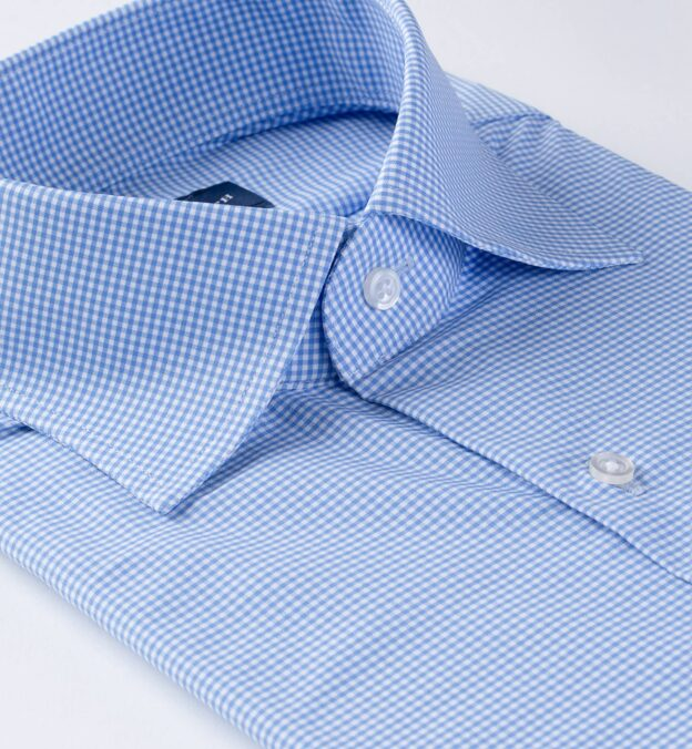 Performance Light Blue Small Gingham