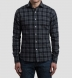 Grey Melange Plaid Flannel Shirt Thumbnail 3
