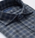 Vail Navy and Grey Gingham Lightweight Flannel Shirt Thumbnail 2