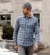 Satoyama Light Blue and Slate Plaid Flannel Shirt Thumbnail 4