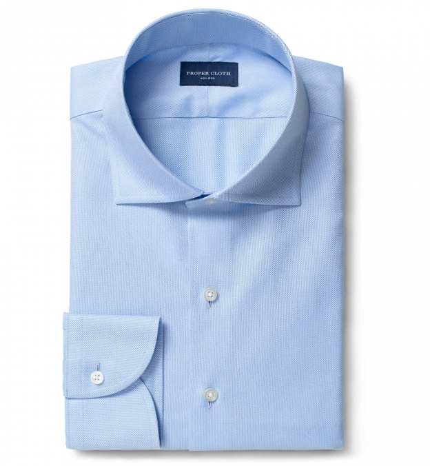Non-Iron Supima Light Blue Royal Oxford