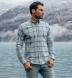 Canclini Frost Blue Shadow Plaid Beacon Flannel Shirt Thumbnail 3