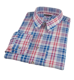 Red White Blue Madras Men's Dress Shirt