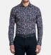 Albini Navy Red and Light Blue Floral Print Shirt Thumbnail 3