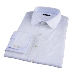 Canclini Blue Fine Stripe Fitted Shirt