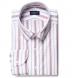 Albini Red Folk Stripe Shirt Thumbnail 1