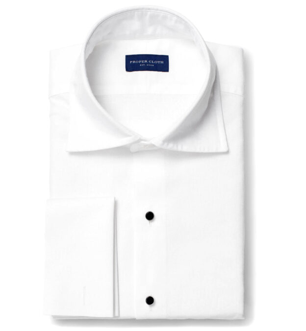 Portuguese White Cotton Linen Oxford