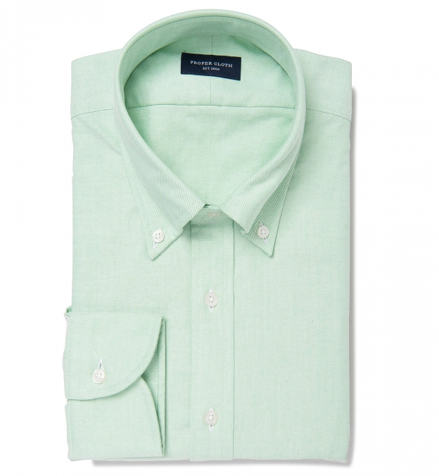Green Heavy Oxford Button Down